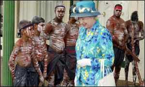 Queen and aborigines