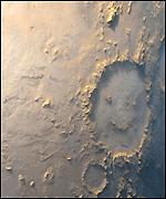 Mars' 'Happpy Face Crater'