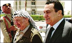 Mr Arafat often consults President Mubarak