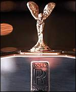 The Rolls Royce Spirit of Ecstasy