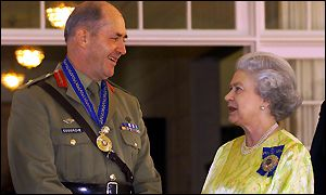 queen and peter cosgrove