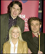 Jools Holland, Emma Bunton and Jamie Theakston