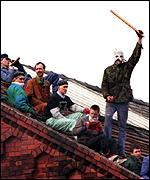 prisoners on roof