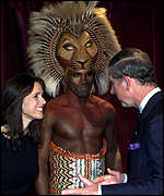 Julie Taymor with Prince Charles
