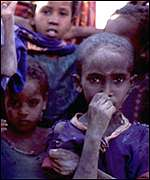 Group of Ethiopian children