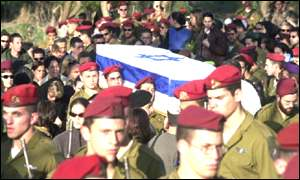 Funeral for a soldier killed in southern Lebanon