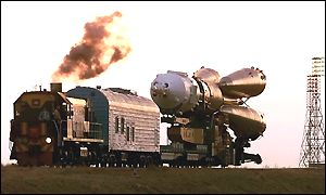 Soyuz PM-30 and train