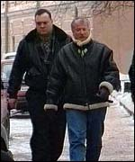 [ image: Doug Steele with his Russian bodyguard]