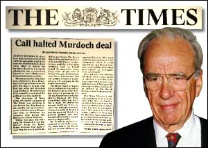 image: [ Murdoch told The Times of conversation with PM ]