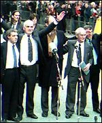 [ image: The Birmingham Six celebrate their release]