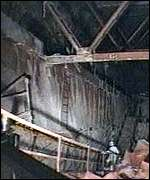 [ image: The wrecked interior of the reactor]