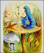 [ image: Alice gets advice from the Caterpillar]