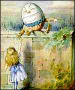 [ image: Alice meets Humpty Dumpty in Through The Looking-Glass]