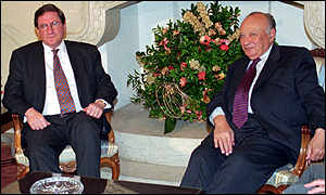 image: [ Richard Holbrooke with the Greek Cypriot President Glafcos Clerides ]