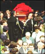 The funeral of Judge Falcone in 1992