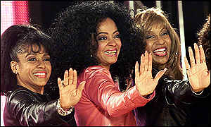Scherrie Payne, Diana Ross and Lynda Laurence