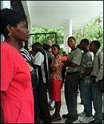 Haitian voters registering in January