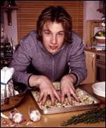 Jamie Oliver in kitchen