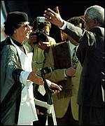Gaddafi and Mandela