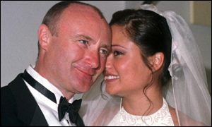 Phil Collins and Orianne Cevy