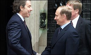 Putin and Blair