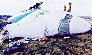Crashed plane fuselage