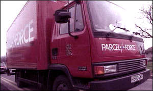 Parcelforce lorry