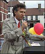 Peter Hain campaigning for Labour at the 1991 Neath by-election