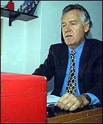 Peter Hain with his ministerial Red Box