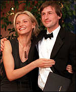 Spike Jonze with Being John Malkovich star Cameron Diaz