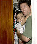 Elian and Donato Dalrymple hid in a closet