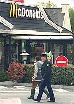 Police at McDonalds