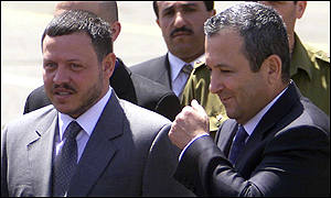 King Abdullah and Prime Minsiter Ehud Barak