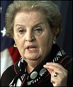 US Secretary of State Madeleine Albright
