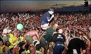 Limp Bizkit's Fred Durst at Woodstock in 1999
