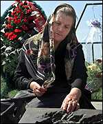 Russian woman mourner