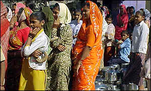 Women in queue