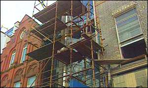 The pipe-fitter fell 30 feet from scaffolding
