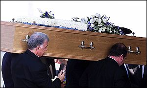 Bill Dean's coffin