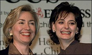 Cherie Booth and Hilary Clinton