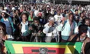 War veterasn and Zanu-PF supporters