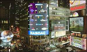 Nasdaq MarketSite Tower on New York's Times Square