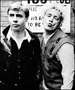Glen Matlock and Johnny Rotten