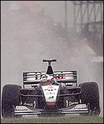 David Coulthard's McLaren-Mercedes in action