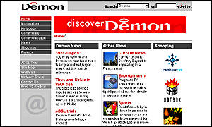Demon Internet web site