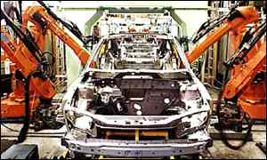 Vauxhall's Luton production line