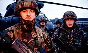 British troops in South Armagh