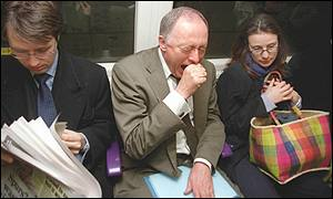 Ken Livingstone uses the London underground system on Friday