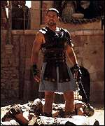 Russell Crowe in the Coliseum