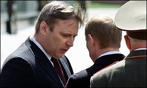 Mr Kasyanov (left) was chosen within hours of Mr Putin's inauguration
